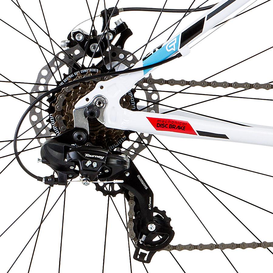 Componentes Shimano integram a transmissão de 21 velocidades