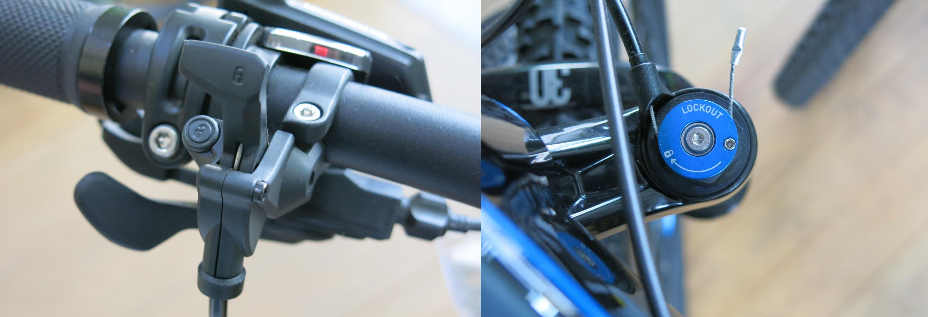 """À esquerda está o """"gatilho"""" ou trava remota. À direita está o dispositivo acoplado no crown que fará a parte interna travar e impedir a movimentação."""
