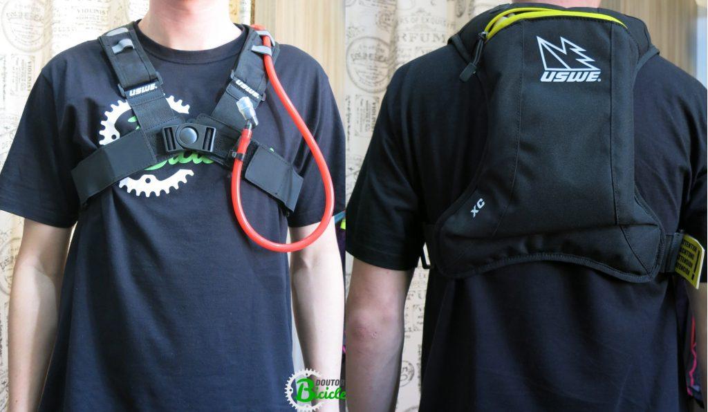 A mochila demonstra-se confortável e firme, sem comprometer a liberdade de movimento.