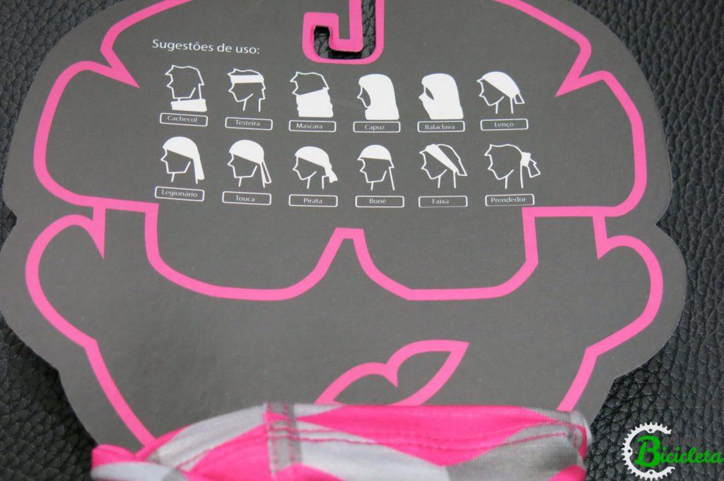 Sugestões de uso da bandana.